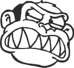 Family Guy Evil Monkey Decal / Sticker 01