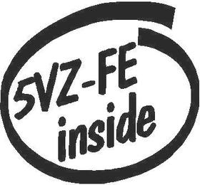 Toyota 5VZ-FF Inside Decal / Sticker