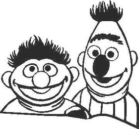 Bert and Ernie  Decal / Sticker