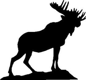 Moose Decal / Sticker 02