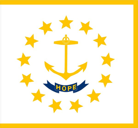 Rhode Island State Flag Decal / Sticker 01