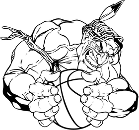 Basketball Braves / Indians / Chiefs Mascot Decal / Sticker