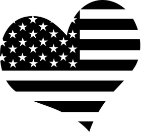 American Flag Heart Decal / Sticker 18