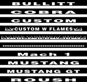 3rd (Third) Brake Light Cover Fits 94-98 Mustang Decal / Sticker