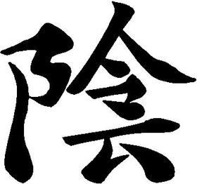 Yin Kanji Decal / Sticker