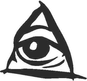 Triangle Eye Decal / Sticker