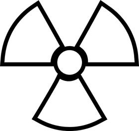 Radiation Decal / Sticker 04