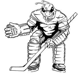 Hockey Hornet, Yellow Jacket, Bee Mascot Decal / Sticker