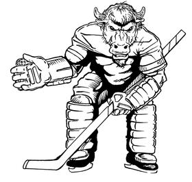 Hockey Buffalo Mascot Decal / Sticker hk1