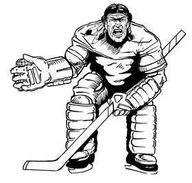 Hockey Braves / Indians / Chiefs Mascot Decal / Sticker hk1