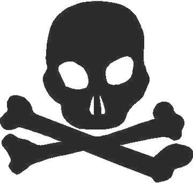 Skull and Crossbones Decal / Sticker 02