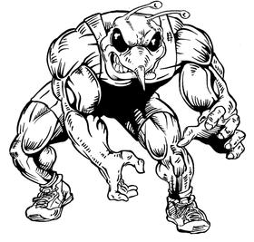 Wrestling Hornet, Yellow Jacket, Bee Mascot Decal / Sticker