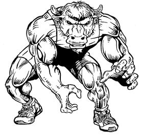 Wrestling Buffalo Mascot Decal / Sticker wr3