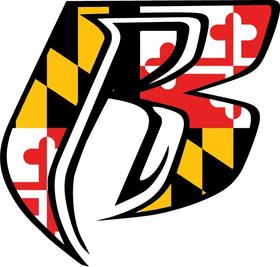 Maryland Flag Ruff Ryders Decal / Sticker 10