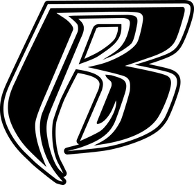 Ruff Ryders Black and White Decal / Sticker 11