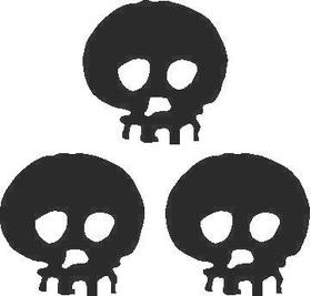 Skull Decal / Sticker 12