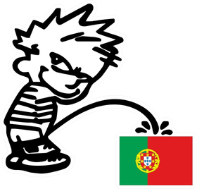 Z1 Pee On Portugeuse Flag Decal / Sticker