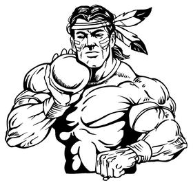 Shot Put Braves / Indians / Chiefs Mascot Decal / Sticker tf2