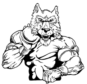 Track and Field Wolves Mascot Decal / Sticker 3