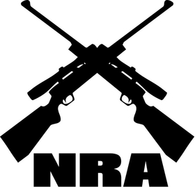 NRA Rifles Decal / Sticker 06