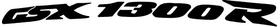 Curved GSXR1300 Suzuki Hayabusa Decal / Sticker 04