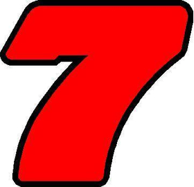 7 Race Number 2 Color Decal / Sticker