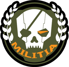 Militia Skull Decal / Sticker 01