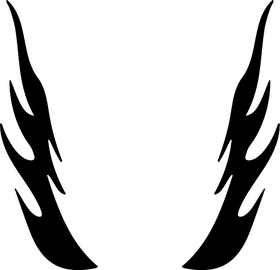Flames Decal / Sticker 82