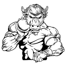 Shot Put Buffalo Mascot Decal / Sticker tf2