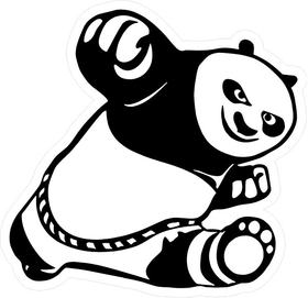 Kung Fu Panda Decal / Sticker 02