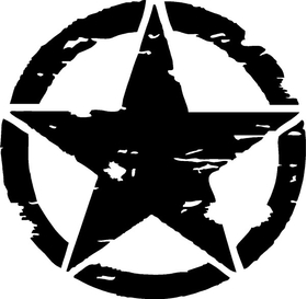 Weathered Army Star Decal / Sticker