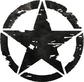 Distressed Army Star Decal / Sticker 05