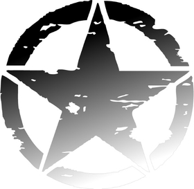 Faded Weathered Army Star Decal / Sticker 04