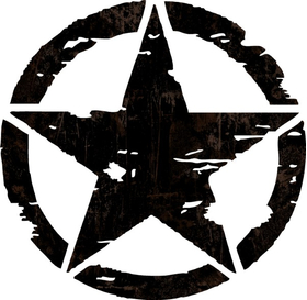 Weathered Army Star Decal / Sticker 06