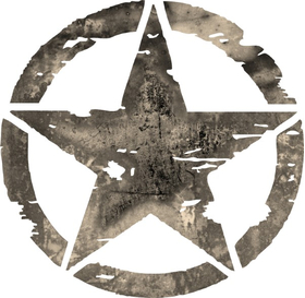 Weathered Army Star Decal / Sticker 07