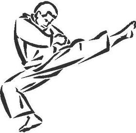 Karate man  Decal / Sticker