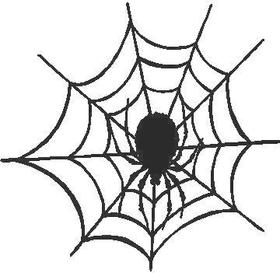 Spiderweb Decal / Sticker 01