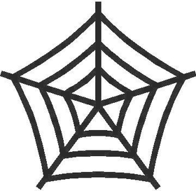 Spiderweb Decal / Sticker 03