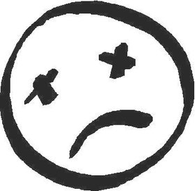 Dead Sad Face Decal / Sticker