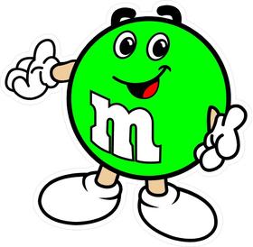 Green M&M Decal / Sticker 07