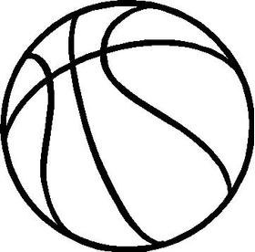 Basketball Decal / Sticker 11