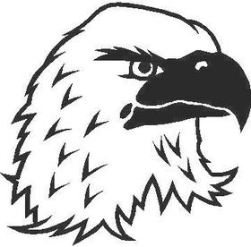 Eagle Head Decal / Sticker 04