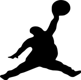 Fat Jordan Decal / Sticker 01