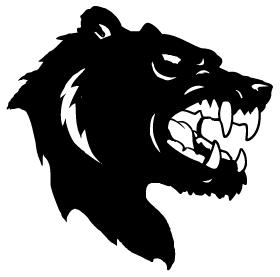 Bear Head Mascot Decal / Sticker