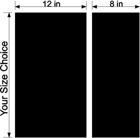 12/8 Inch Off-Set Racing Stripe Decal / Sticker