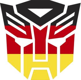Autobot GermanFlag Decal / Sticker 06