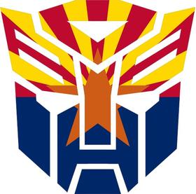 Autobot Arizona Flag Decal / Sticker 06