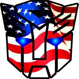 American Flag Autobot Decal / Sticker 40