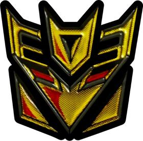 Gold Decepticon Decal / Sticker 42