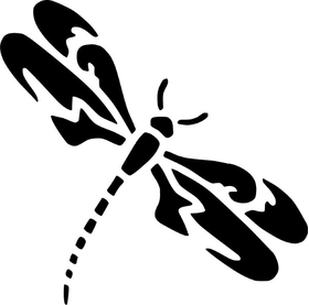 Dragonfly Decal / Sticker 01